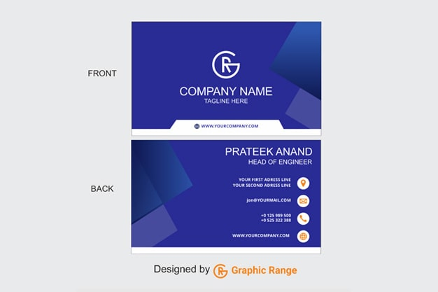 Blue Color Beautiful Visiting Card