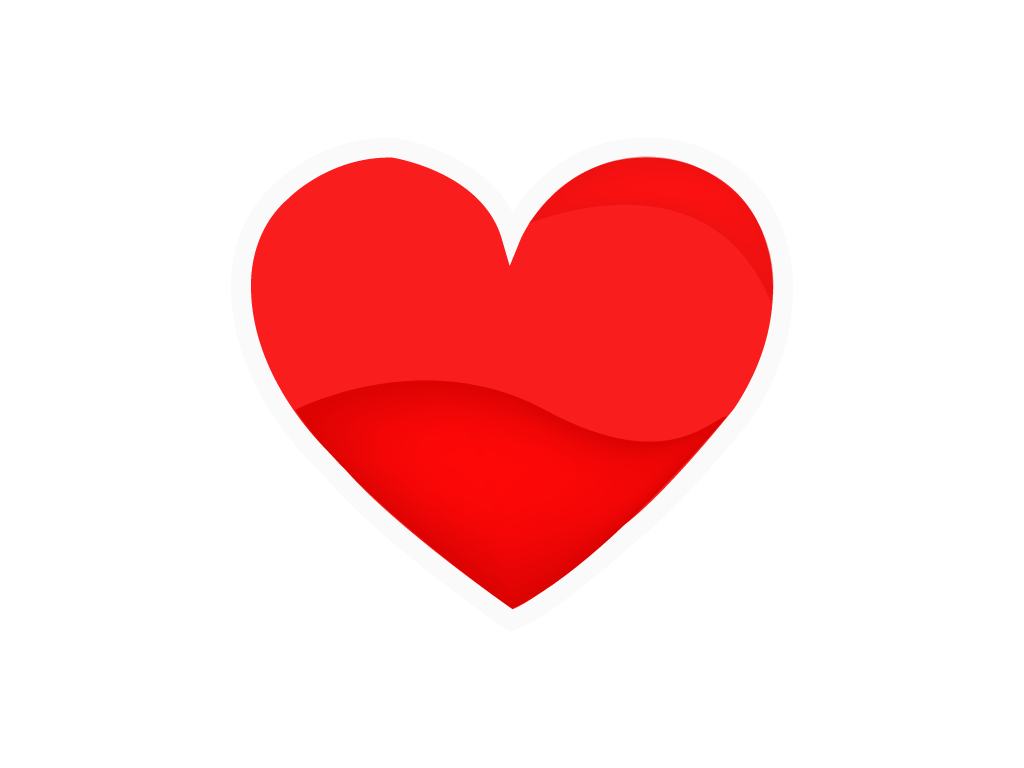 Free Red Heart png Vector
