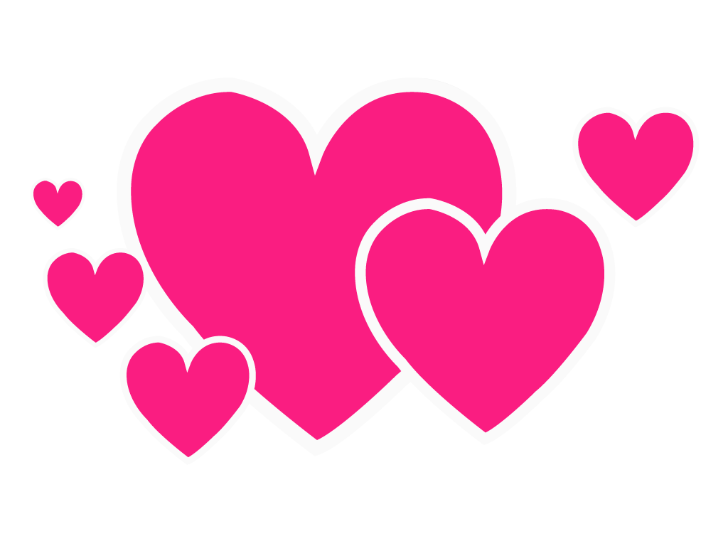 Multiple Pink Heart png Design