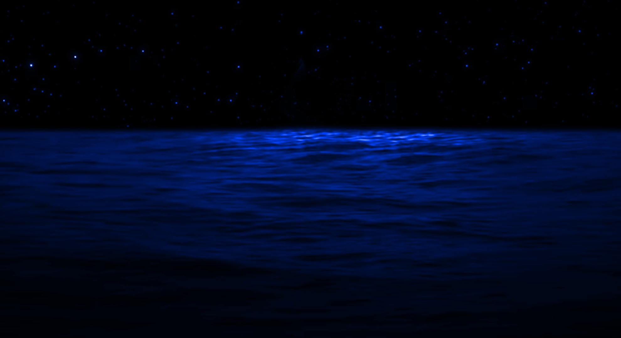 Night River Water Background
