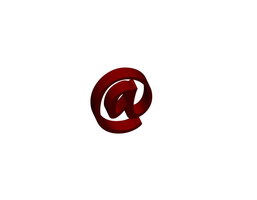 Red At The Rate (@) Symbol 3d png Transparent Pictures